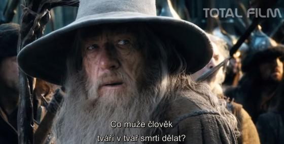 Gandalf šedý stojí na straně dobra.